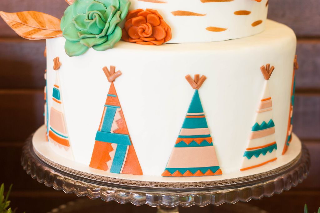 Cake Sets Woodlands Teepee Cottontail Cake Studio