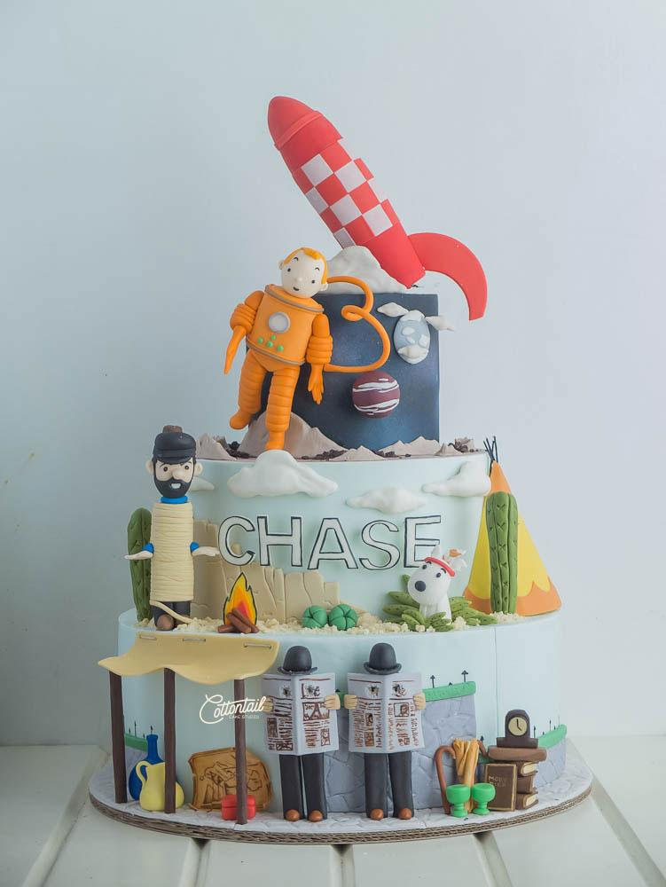 Cake Artist Studio : The Adventures of Tintin in Outerspace Cottontail Cake ...