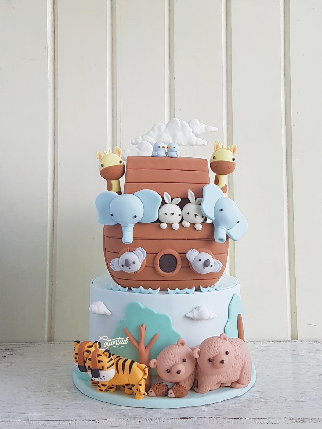 noah ark cake fondant kiddie party sugar art cake artist ...