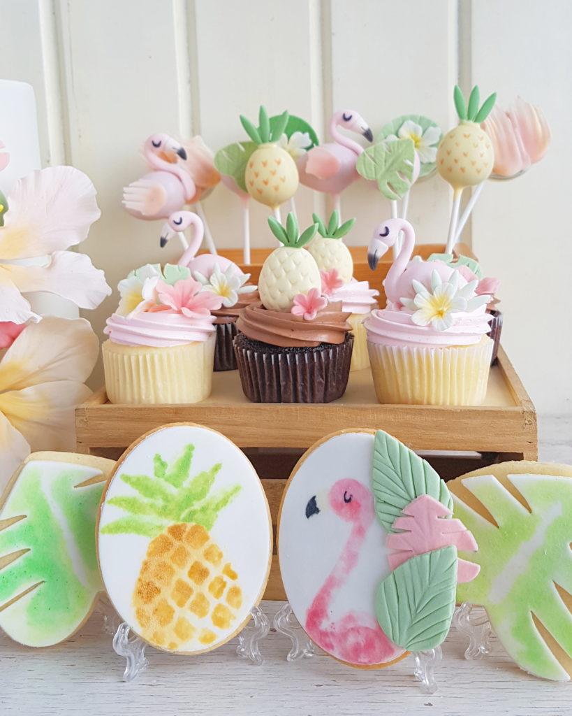 Flamingo and Hibiscus Desserts