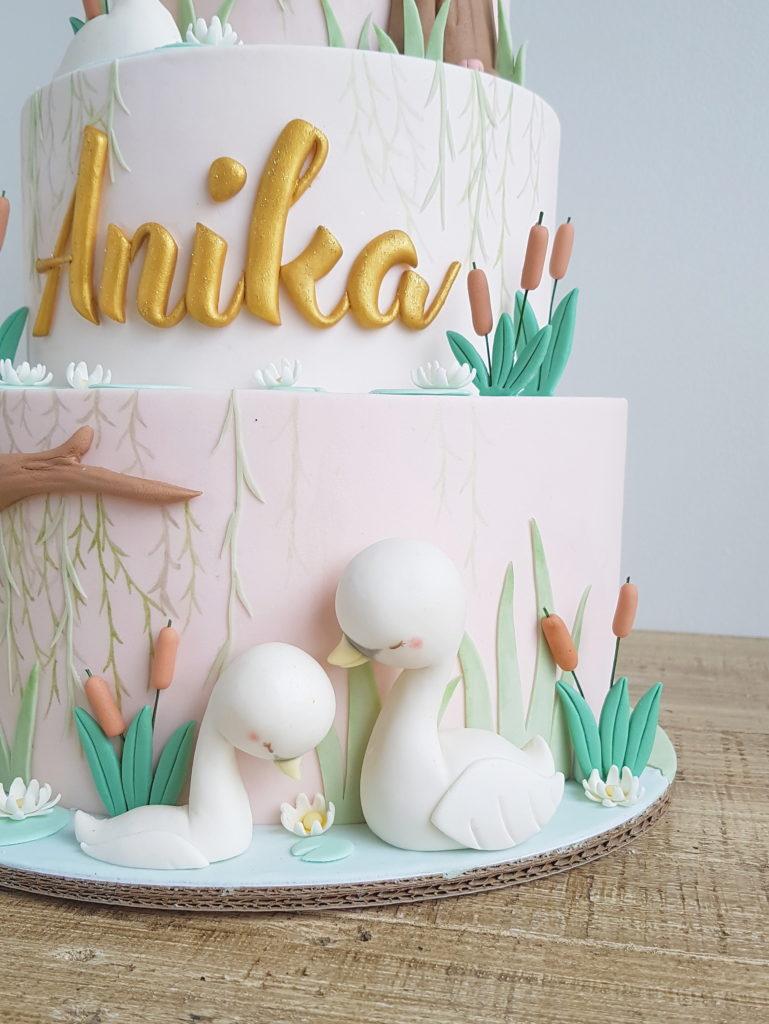Swan Lake Cottontail Cake Studio Sugar Art