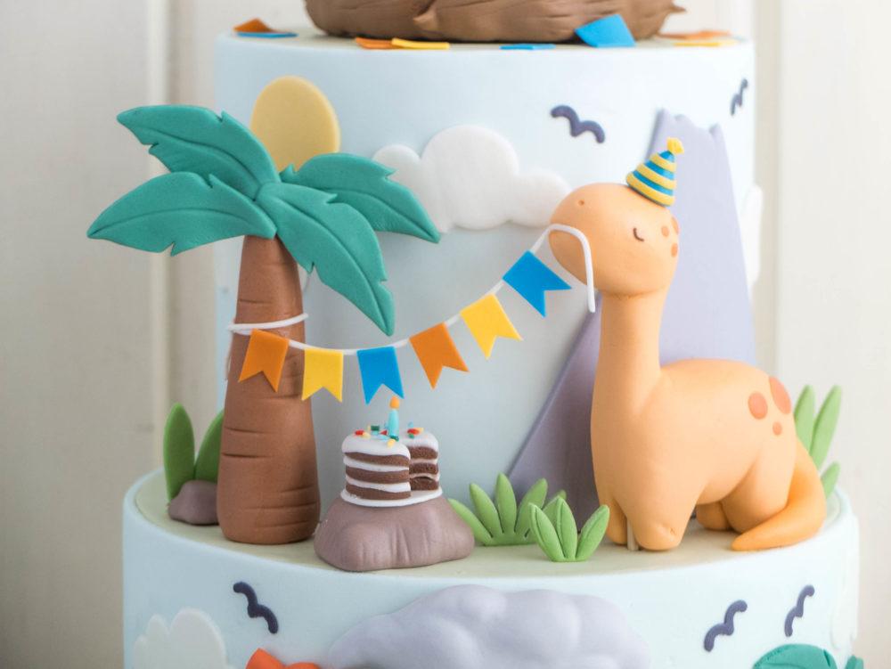 Dinosaur Party Cottontail Cake Studio Sugar Art